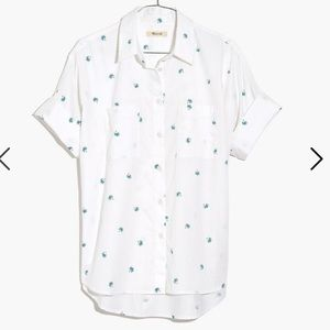 NWOT Madewell Courier Shirt in Palm Print